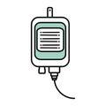 Iv bag medical isolated icon