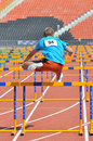 Ivan bogun jumps over the barriers photo was taken during junior competition of ukrainian championship in athletics between Stock Photography