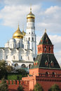 The ivan the graet bell tower of moscow kremlin russia Royalty Free Stock Images