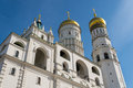 Ivan the great bell tower architectural detail of and assumption belfry on cathedral square in moscow kremlin Royalty Free Stock Photo
