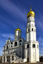 Ivan the great bell tower with assumption belfry on the left moscow russia Royalty Free Stock Image