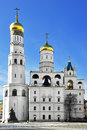Ivan the great bell tower with assumption belfry on left moscow russia Stock Image
