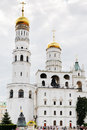 Ivan the great bell tower and assumption belfry moscow russia july from ivanovskaya square of moscow kremlin on july was Royalty Free Stock Images