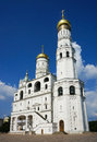 Ivan the great belltower assumption belfry with kremlin moscow russia Royalty Free Stock Image