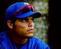 Ivan rodriguez former texas rangers catcher image scanned from color slide Royalty Free Stock Image