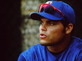 Ivan rodriguez former texas rangers catcher image scanned from color slide Royalty Free Stock Images