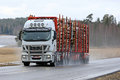 Iveco Stralis 560 Logging Truck Hauls Load Royalty Free Stock Photo
