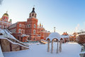 Iversky monastery in samara russia winter Royalty Free Stock Photo