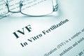 IVF In Vitro Fertilization. Royalty Free Stock Photo