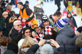 Ivica Kostelic posing with people