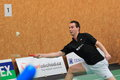 Ivo stoklas badminton in the rd place match within czech extraleague between sokol radotin meteor praha and bac kladno it was Stock Photos
