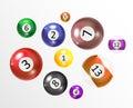 Ivories, Billiard Balls Set Vector