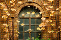 Ivy covered Brick building and window Royalty Free Stock Photo