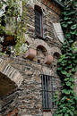 Ivy covered castle wall in Germany Royalty Free Stock Photos