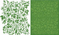 Ivy Filigree Pattern Stock Image