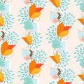 Ivy seamless pattern floral eps Stock Images