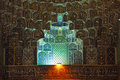 Iwan of imam mosque in isfahan iran Royalty Free Stock Image