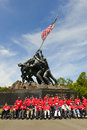 Iwo jima memorial washington dc usa circa may circa may in many veterans visits the in the framework of Royalty Free Stock Image