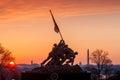 Iwo jima memorial washington dc usa at sunrise marine corps war Stock Photos