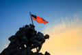Iwo jima memorial washington dc usa at sunrise marine corps war Royalty Free Stock Photo