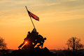 Iwo jima memorial washington marine corps war dc usa at sunrise Royalty Free Stock Images