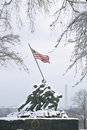 Iwo Jima In Winter Snow Royalty Free Stock Photos