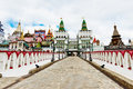 Izmailovsky kremlin in moscow russia Royalty Free Stock Photography
