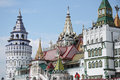 Izmaylovskiy kremlin moscow imitation ancient russian architecture Stock Photos