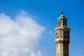 Izmir clock tower the top of the with the beautiful white cloud and blue sky Royalty Free Stock Photos