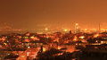 Izmir night wiew panoramic wiev in turkey Stock Images