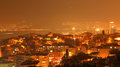 Izmir night wiew panoramic wiev in turkey Stock Image