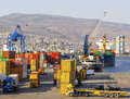 Izmir port at alsancak on september Stock Photography
