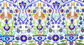 IZMIR, TURKEY - JULY 31 : Turkish artistic wall tile at the Fatih Mosque on July 31, 2014 in Izmir. impressive ancient Handmade Tu Royalty Free Stock Photo