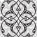 Iznik tile seamless pattern design, classical Ottoman Turkish st