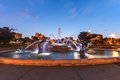 J c nichols memorial fountain by the kansas city country club plaza is a popular tourist area Royalty Free Stock Photos