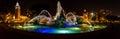 J C Nichols Memorial Fountain at night in Kansas City Royalty Free Stock Photo