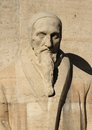 J calvin reformation wall geneva switzerland close up of jean statue on in parc des bastions Stock Photography