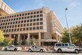 J Edgar Hoover Building, headquarters of the FBI on Pennsylvania Avenue. Royalty Free Stock Photo