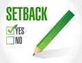 Ja zu einem rückschlag check listen illustration Lizenzfreie Stockfotos