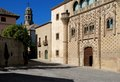 Jabalquinto palace & Cathedral bell tower, Baeza. Royalty Free Stock Photo