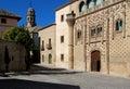 Jabalquinto palace & Cathedral bell tower, Baeza. Royalty Free Stock Photo