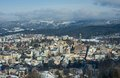 Jablonec nad nisou czech republic winter panorama of town in jizerske hory northern bohemia Stock Photography