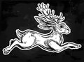 Jacalope magical creature running or jumping.