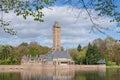 The jachtslot sint hubertus castle in holland netherlands with beautiful reflections otterlo gelderland Stock Photos