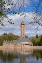 The jachtslot sint hubertus castle in holland netherlands with beautiful reflections otterlo gelderland Royalty Free Stock Photo