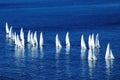 Jachty na wysokich morzach Zdjęcia Royalty Free