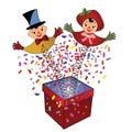 Jack-in-the-Box - brinquedo   Fotos de Stock