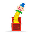 Jack in the box vector illustration of a children toys Royalty Free Stock Photo