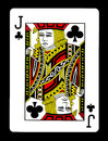 Jack of clubs playing card, Royalty Free Stock Photo