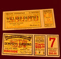 Jack dempsey fight tickets Royalty Free Stock Photography